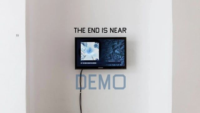 "The End Is Near is an app that: 1) looks up tweets containing apocalyptic messages (""the end is near"", ""apocalypse is coming"", etc.),  2) geolocates the tweets' authors, 3) uses Google StreetView API to visualize the results in real time.  The app was made in Processing and runs on a Raspberry Pi.​​"