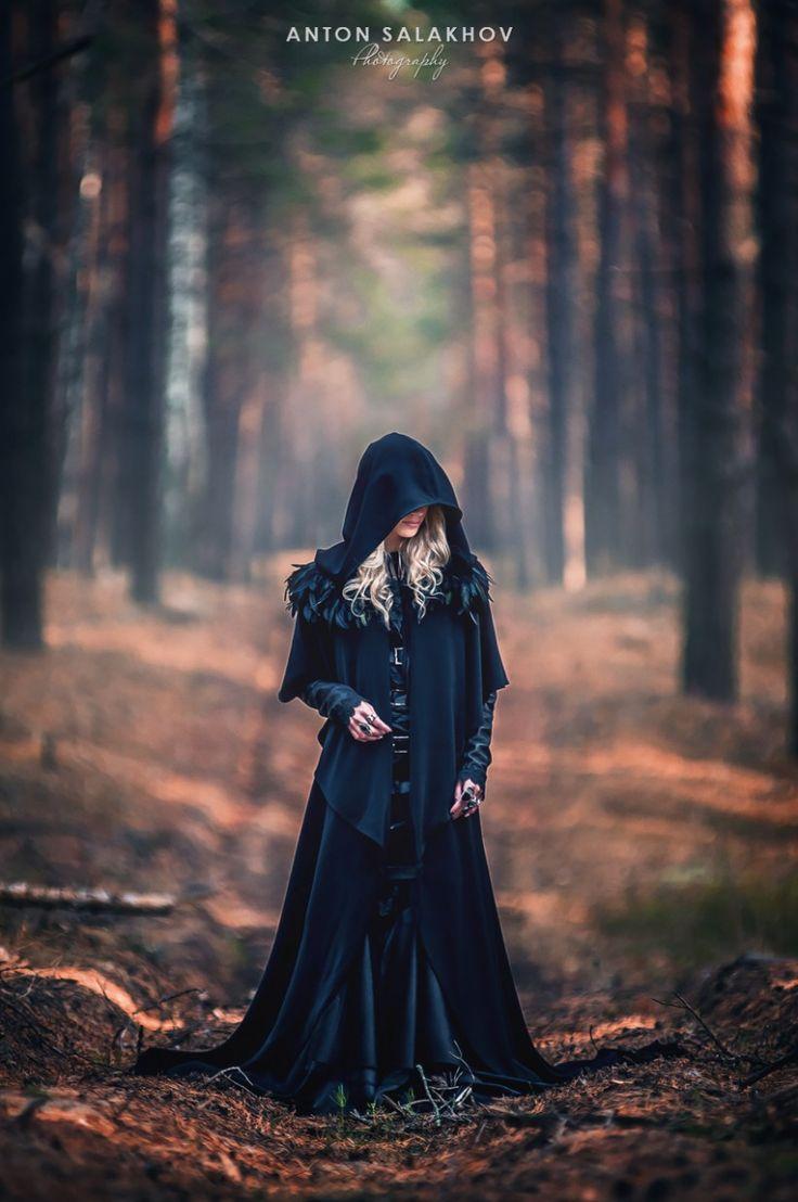 простых самодельных образ ведьмы для фотосессии человеку она