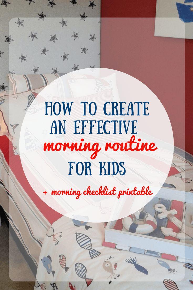 Morning routine for kids   Morning routine printable   Morning checklist for kids   Morning checklist printable
