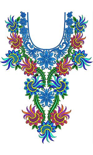 Mexican Hand Embroidery Neck Design