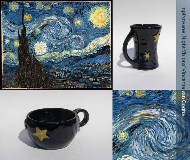 """Cups inspired """"Night visions"""" - Van Gogh"""
