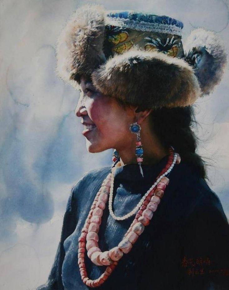Stunning Realistic Tibetan Watercolors – Fubiz Media