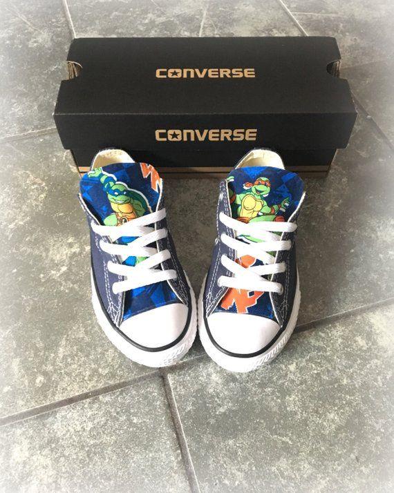 69d7cefa401d Ninja Turtles Converse shoes