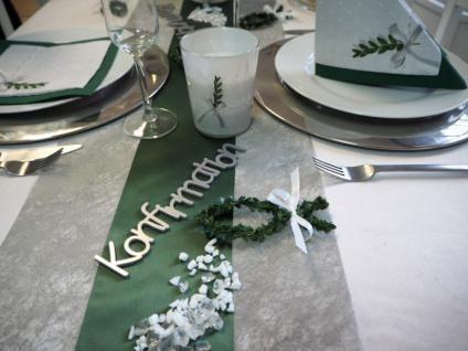 5m Tischläufer Grau Tischband Tischdeko Kommunion Konfirmation Deko - Vorschau 2