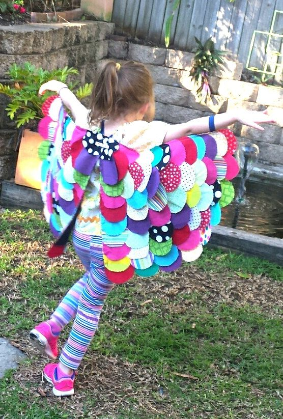 Multicolored BUTTERFLY wings, Girls dress ups, Girls costume, Handmade fabric upcycled dress up wings by ONCEIWAS on Etsy