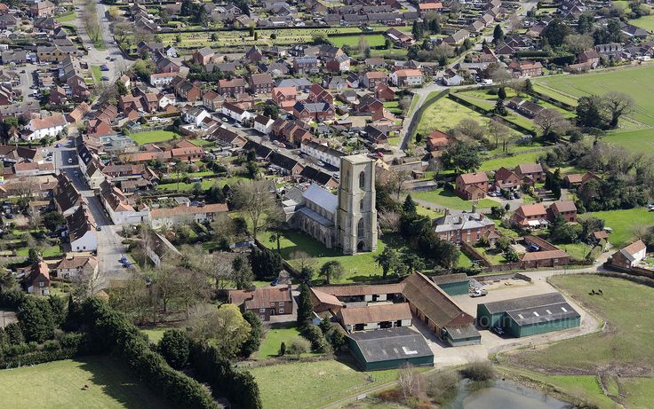 Cawston St Agnes church aerial image | by John D F