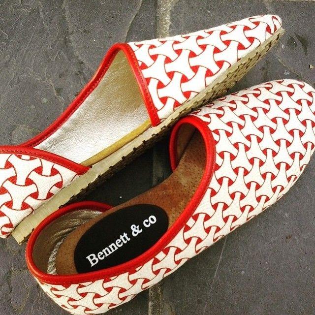 Shoe goals! Indigi Design x Bennett & Co. [photo credit: @indigidesigns] #lovelocalprint