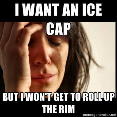 Hahaha the struggle!! Its roll up the rim to win time of the year y'all
