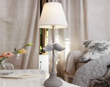 lampe de chevet ailes et ruban - Becquet