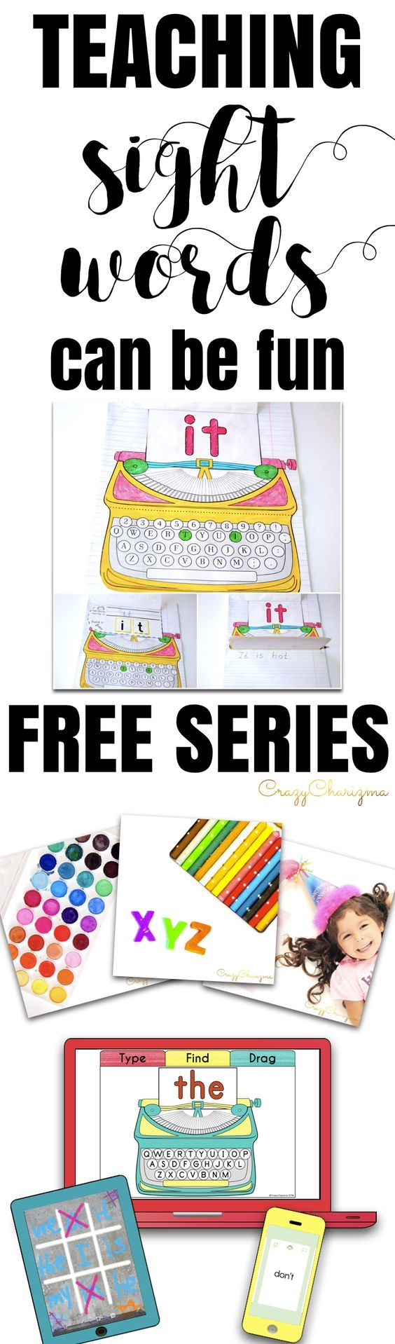 Teaching sight words can be fun - try yourself and subscribe to FREE series. You'll discover various ways to spice up teaching: using magic around you, embracing technology and going interactive with your kids! | CrazyCharizma