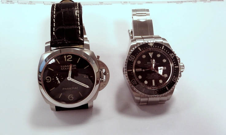 Rolex DSSD vs Panerai 312 (pics)