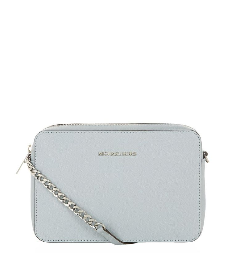 MICHAEL Michael Kors Jet Set Travel Medium Cross Body Bag Dusty Blue | Harrods