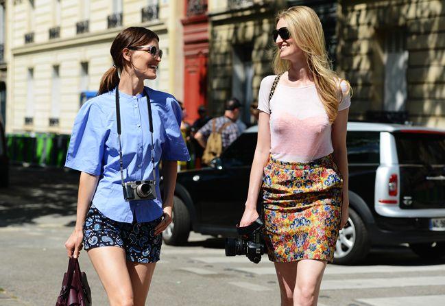 Paris Streetstyle, Streetstyle Photos, Mccartney Shorts, Celine Skirts, Street Style, Fashion Friends, Streetstyle Scene, Streetstyle Photography, Peplum Skirts