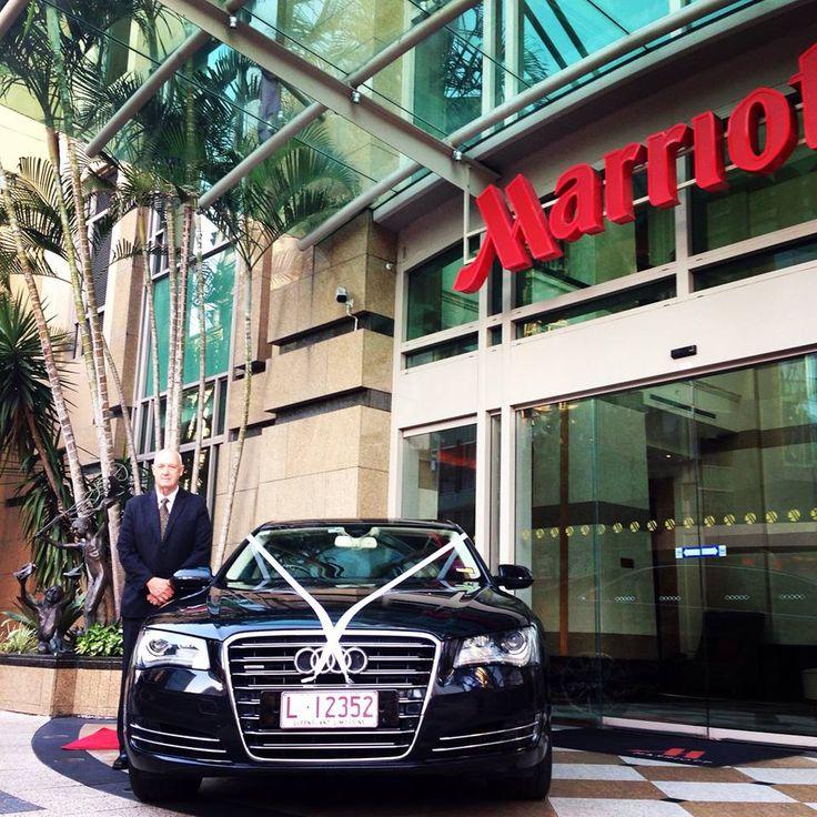 Luxury Audi A8 L Saloon at the Marriott Brisbane
