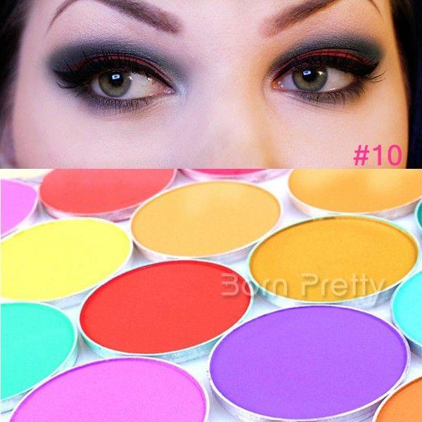 $3.19 1Pc Colorful Matt Eyeshadow Palette Charming Round Shape Eyeshadow For Makeup - BornPrettyStore.com