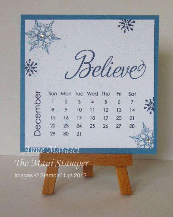 Maui Stamper 2013 Calendar December