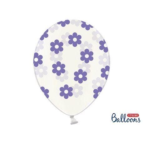 Ballonger - Klar med Blomster i Lavendel - 6 stk