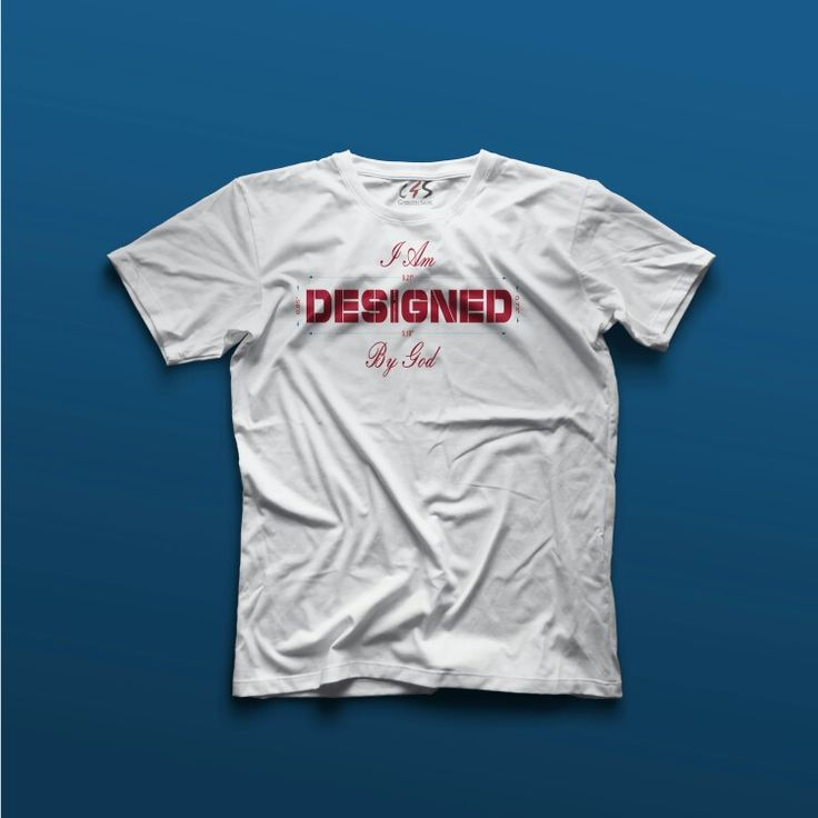 I am Designed by God Tee Available at www.christian4sure.com on May 8th, 2016.