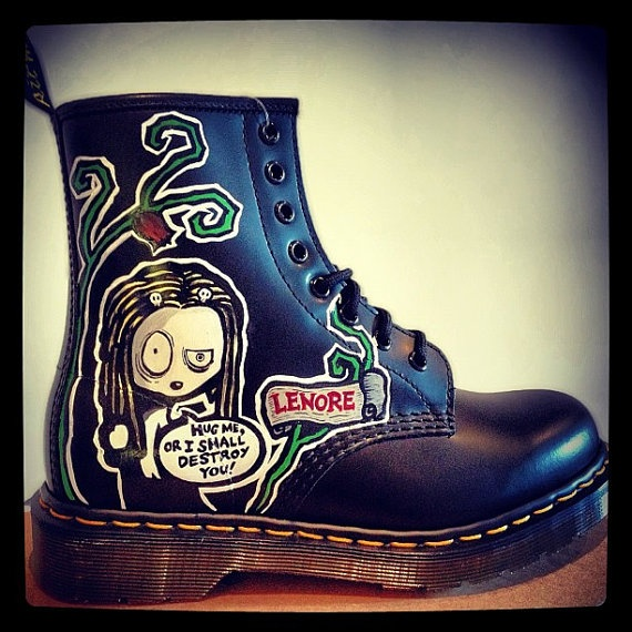 lenore custom painted doc martens request any design by