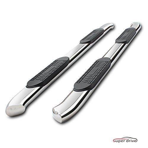 """Super Drive D37S0817B - For 2009-2017 Dodge Ram 1500 Quad Cab 5"""" Oval Bent Polished Stainless Steel Nerf Bars Side Steps Running Boards Side Bars With Non-slip Black Pad. For product info go to:  https://www.caraccessoriesonlinemarket.com/super-drive-d37s0817b-for-2009-2017-dodge-ram-1500-quad-cab-5-oval-bent-polished-stainless-steel-nerf-bars-side-steps-running-boards-side-bars-with-non-slip-black-pad/"""