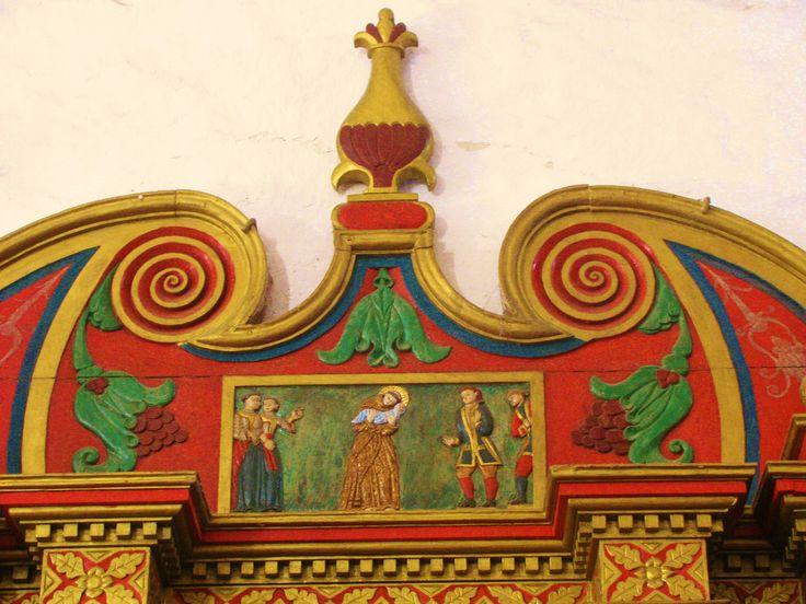 San Bernardino de Siena: Franciscan Convent, Vallodid, Yucatan--carving on side-chapel