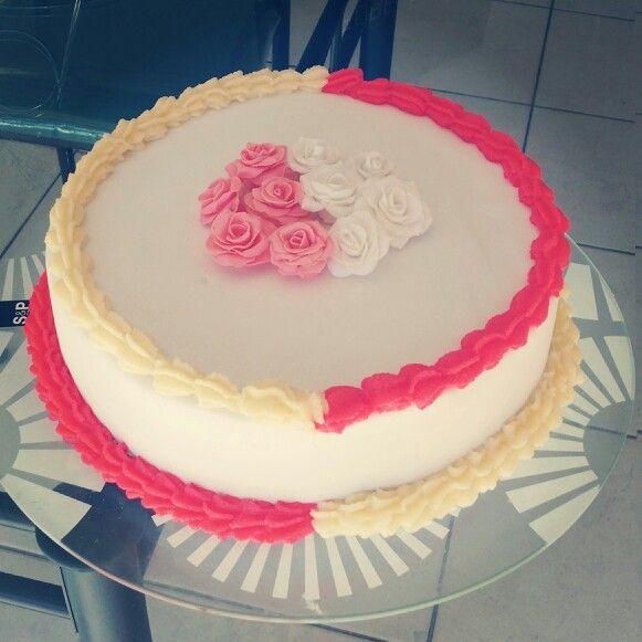 Chocolate cake on the inside