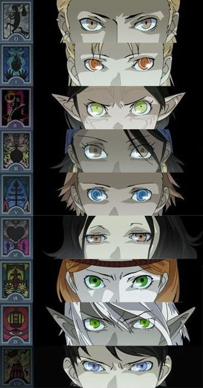 The eyes are the gateway into the soul. (Varric, Anders, Merrill, Isabella, Sebastian, Bethany, Aveline, Fenris, Carver)