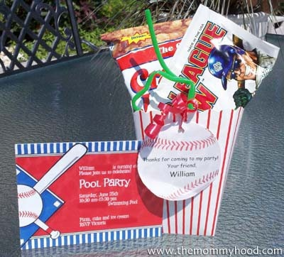 Baseball theme party favors parties