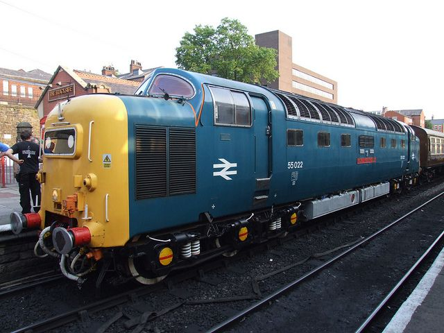 BR Deltic 55022 Royal Scots Grey and the Diner at Bury Bolton Street (05/07/2013) | Flickr - Photo Sharing!