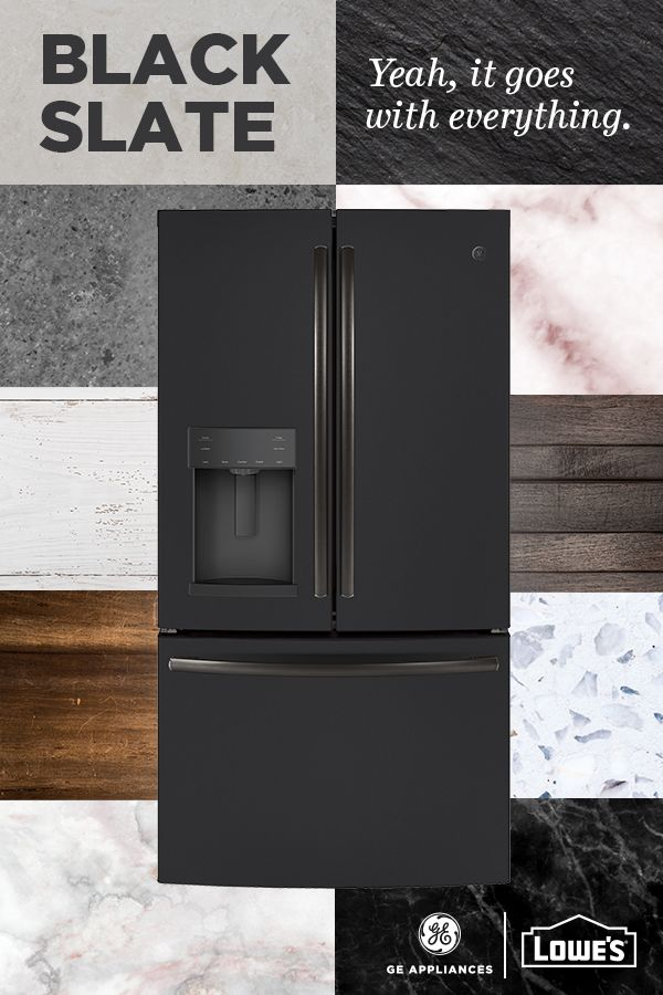 From Country Farmhouse to Contemporary, Mediterranean to Modern, GE Appliances' Black Slate finish is the perfect complement to any kitchen style. See it first-hand at Lowe's.