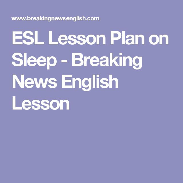 Breaking News English ESL Lesson Plan on Learning While Asleep