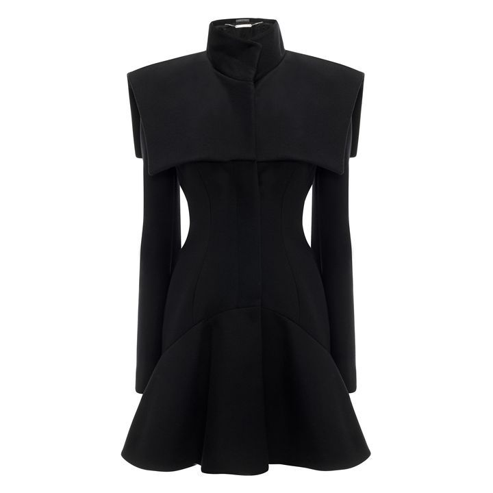 ALEXANDER MCQUEEN | Jackets & Coats | Wave Panel Caplet Short Dress Coat