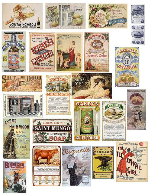 Vintage Ads 5. Free to use in your Art only, not for Sale