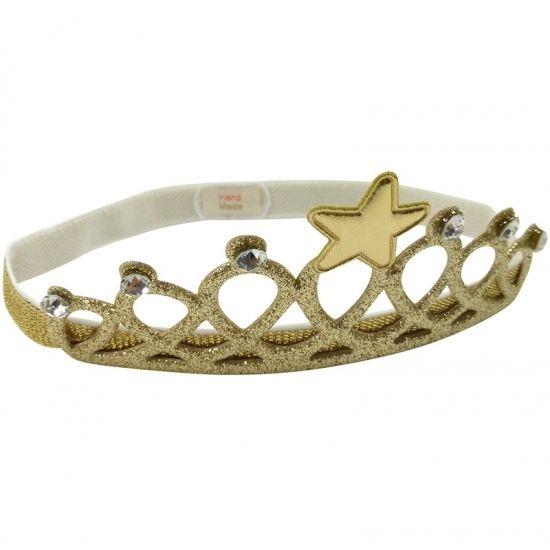 Haarband goud kroontje voor kinderen voor Koningsdag. Gouden stretch haarbandje met een kroontje. Deze haarband is geschikt voor kinderen.