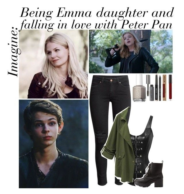 """Imagine: Being Emma's daughter and falling in love with Peter Pan."" by x-carapherneila-x ❤ liked on Polyvore featuring art, peterpan, onceuponatime, ouat and rhiannasimagines"