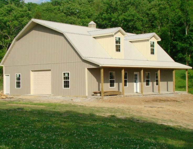 22 best images about barn plans on pinterest pole barn for Gambrel roof metal building