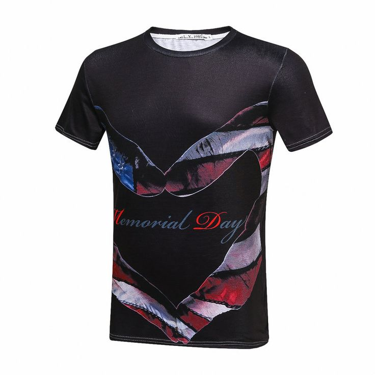Find More T-Shirts Information about 2017 3D Memorial Day Independence Day Love Original Printing Shirts Men T Shirt Print Pattern Casual Short Sleeve T Shirt,High Quality t-shirt pattern,China men t shirt Suppliers, Cheap t-shirt t-shirt from SportsCenter Store on Aliexpress.com
