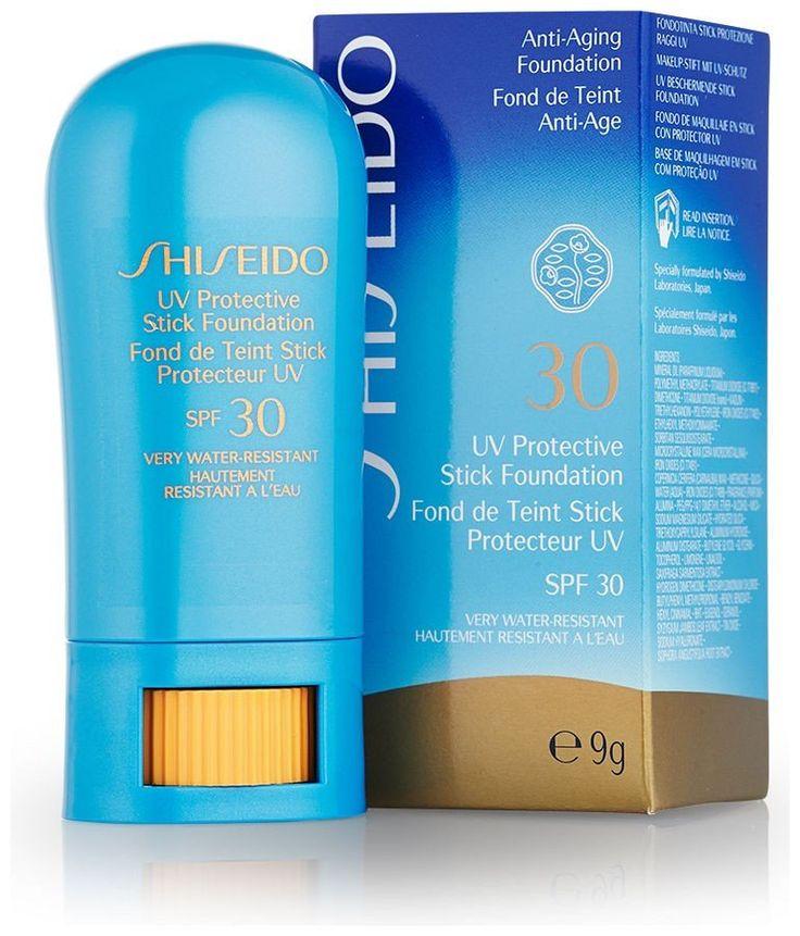 Die Shiseido Suncare UV Protective Stick Foundation SPF 30 passt sich sanft Ihrer Haut an und schenkt Ihnen ein perfekt ebenmäßiges Make-up-Finish. Zusätzlich verfügt die Shiseido Suncare UV Protective Stick Foundation SPF 30 über eine starke Sonnenschutzfunktion und schützt Ihre Haut so vor UV-Strahlung, einer der Hauptursachen für vorzeitige Hautalterung. Keine Sonnencreme nötig! Die Shiseido Suncar...