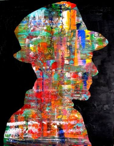 """Saatchi Art Artist Paolo Cervino; Painting, """"About poetry-79- the painter"""" #art"""