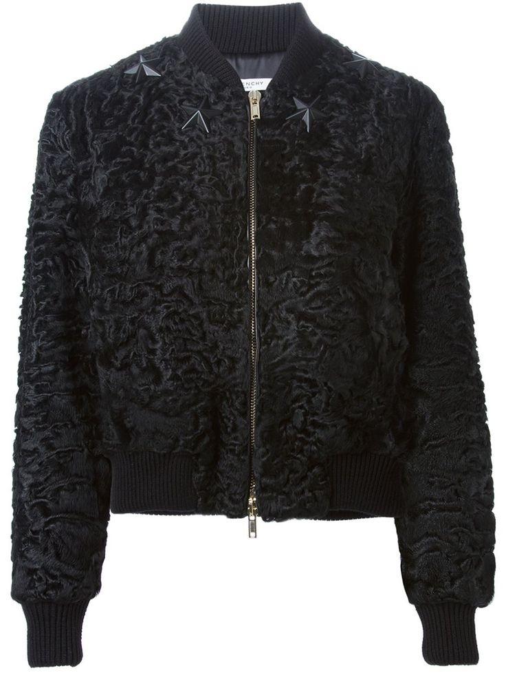 Givenchy куртка-бомбер с аппликацией звезд