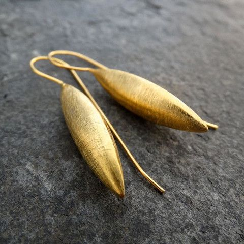 Brushed Gold Vermeil Spear Earrings – Beyond Biasa