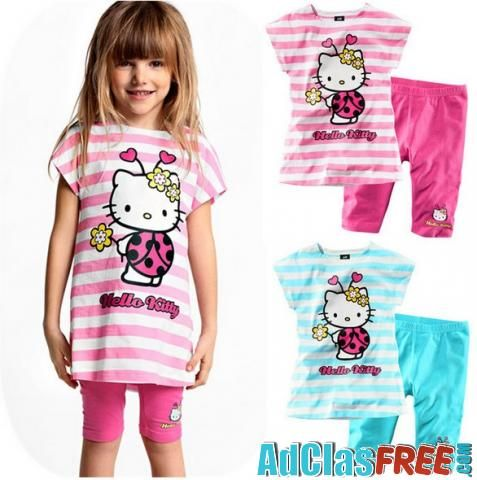 children girls clothing set hello kitty