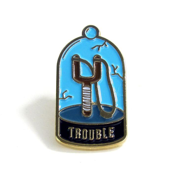 """Trouble"" lapel pin from No Fun Press @nofunpress #pin"