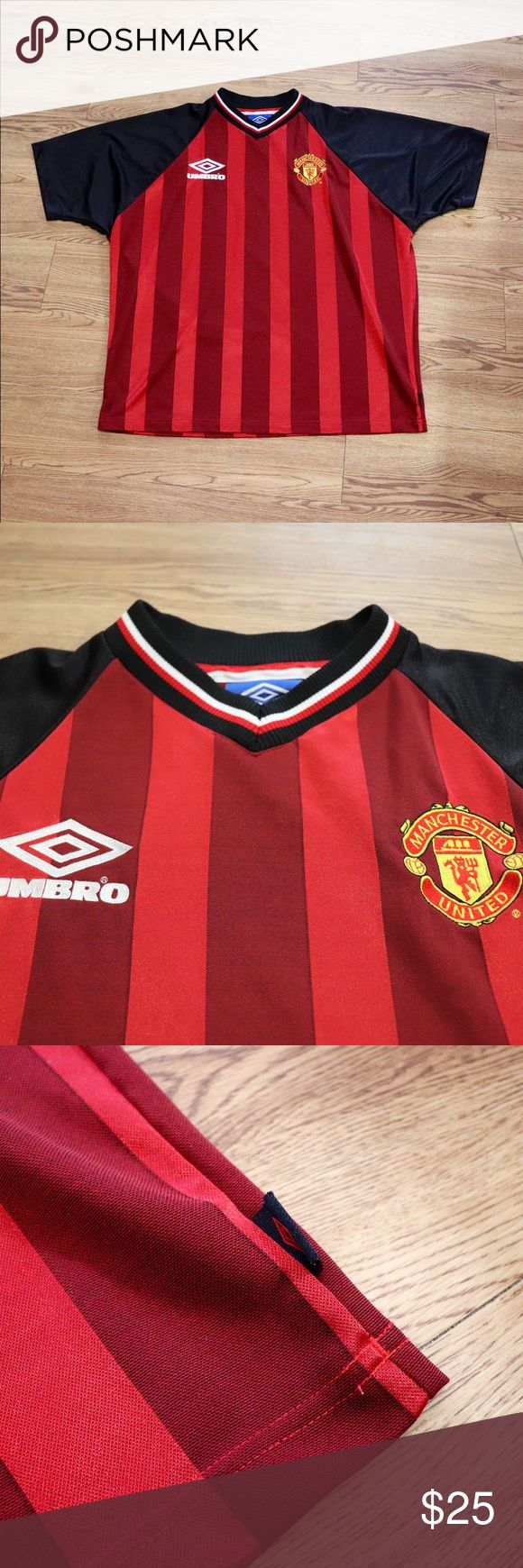 Vintage Manchester United Umbro Soccer Jersey Excellent Condition. Umbro Shirts Tees - Short Sleeve