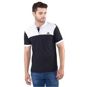 Kaos Kerah Wangki Pria Warna Hitam Putih Bahan Lacoste [SMD 846] (Brand Inflico) Produk Indonesia