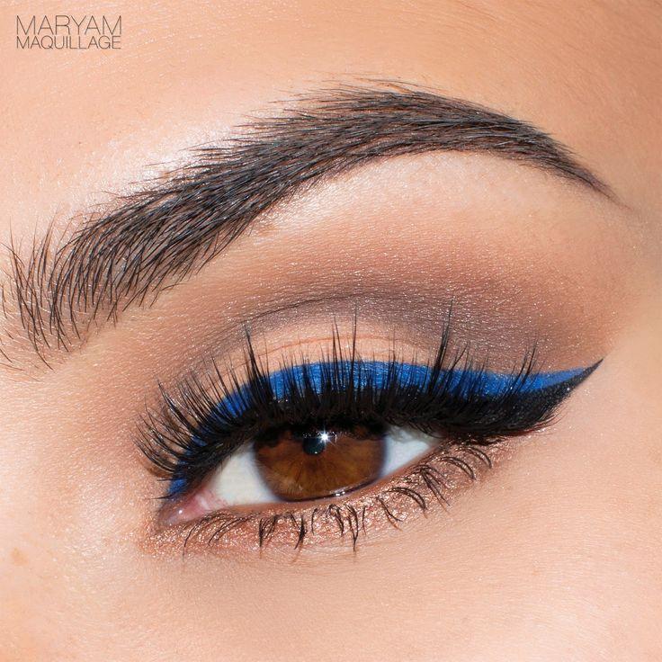 "Maryam Maquillage: ""Pop of Blue"" Cat-Eye Spring Makeup Tutorial"