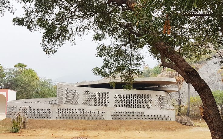 made in earth completes concrete block music and art center in india