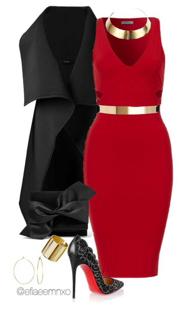 """""""Be my Valentine"""" by efiaeemnxo ❤ liked on Polyvore featuring Sid Neigum, Victoria Beckham, Phyllis + Rosie, Christian Louboutin, ASOS, DANNIJO, Topshop, women's clothing, women and female"""