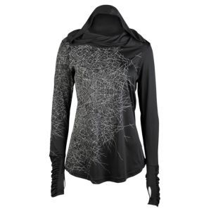 ASICS® Tiger Run Illuminated Hoodie - Women's - Running - Clothing - Black/Reflective