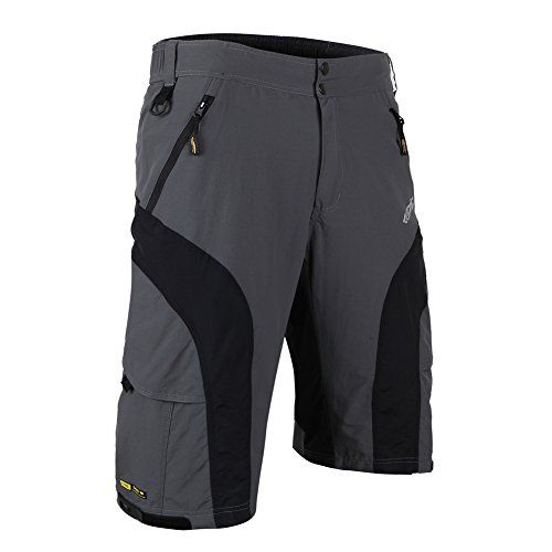 Santic Men's Cycling Padded Shorts Bicycle Breathable Baggy Casual Half Pants Mountain Bikes